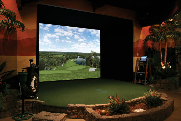 Tee Intact Services Golf Practice Room Design